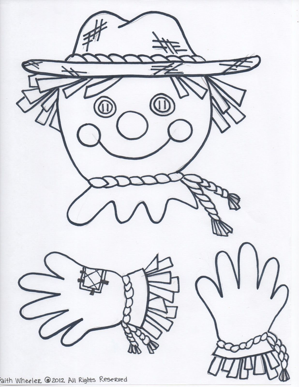 Free Scarecrow Created To Hold A Paper