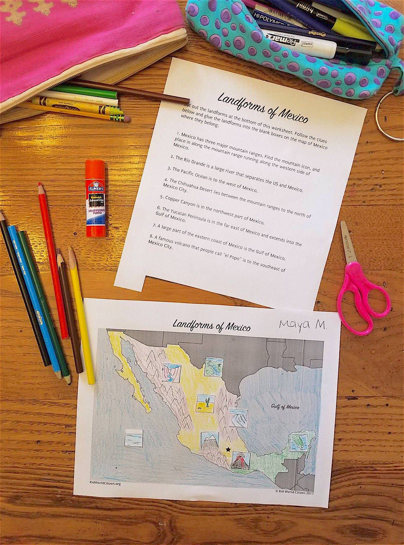 Mexico Geography for Kids Landform Slideshow and