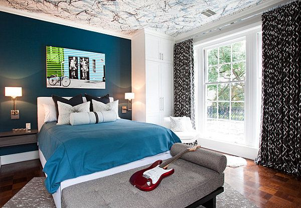 Blue Paint Colors For Bedrooms Gallery Of Images Masculine Midnight