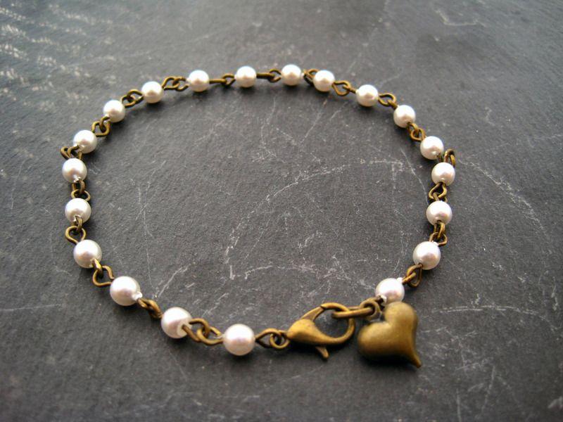 Perlinata* Perlen Armband vintage Brautschmuck von petroleum Et ...