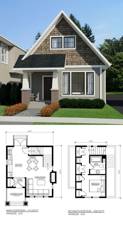 Craftsman Windsor 694 Robinson Plans Sims House Plans House Plans Small House Design