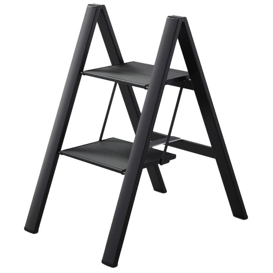 folding ultraslim aluminum step stool step ladder