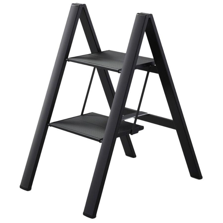 Folding Ultraslim Aluminum 2 Step Ladder Stool 300 Load