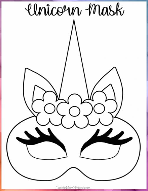 Einhorn Masken Mit Kostenlosen Druckbaren