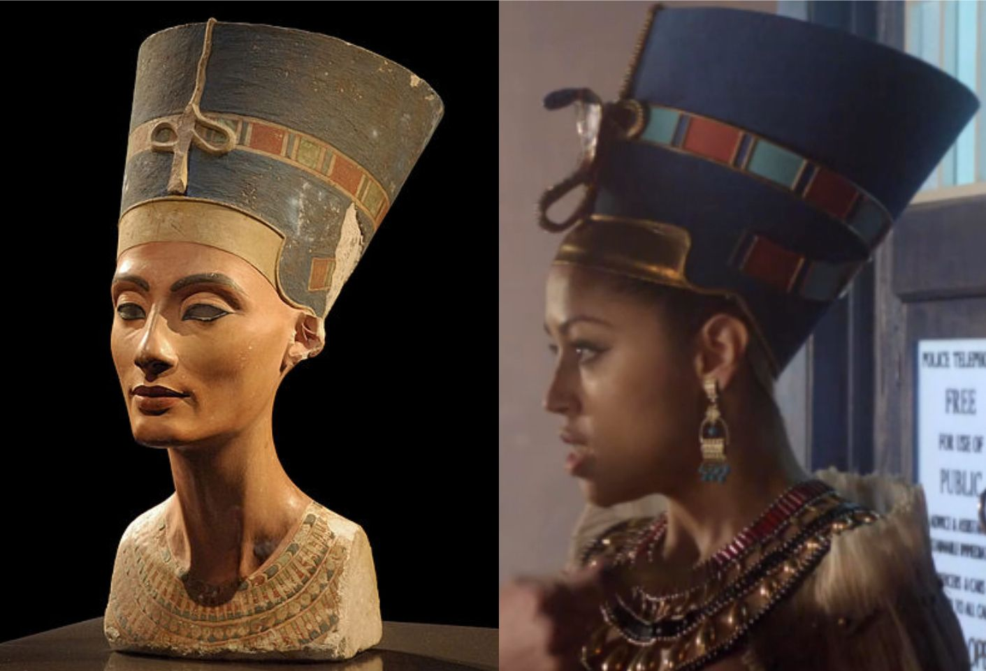 Queen Nefertiti  is a character in Dinosaurs on a Space Ship, episode of Doctor Who.