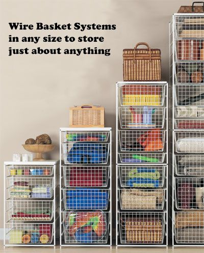 Wire Storage Ideas For Closets And Workes