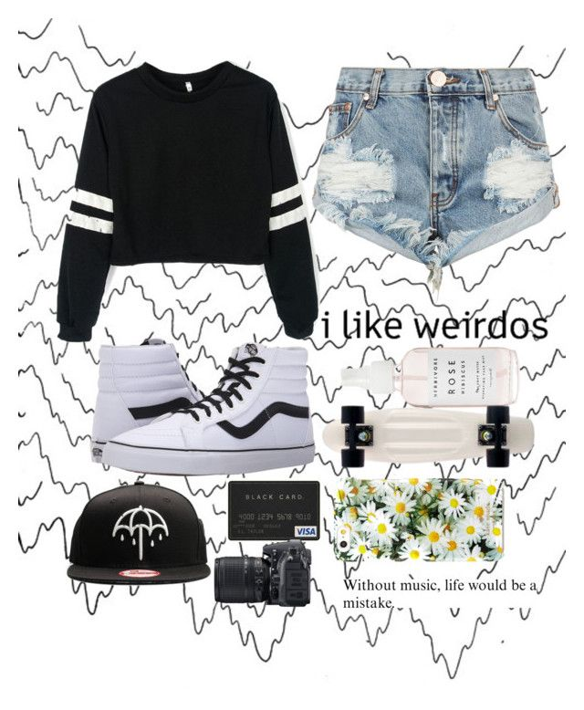 """∆ got no shame I'm in love ∇"" by analisia-marie ❤ liked on Polyvore featuring One Teaspoon, Vans, Kate Spade and Nikon"