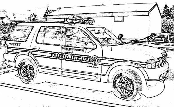 Police Car Coloring Pages Cars Coloring Pages Police Cars