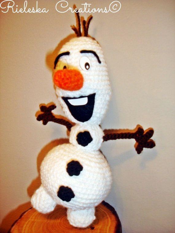 Crochet Pattern Pdf Olaf The Snowman Amigurumi Yarn Works