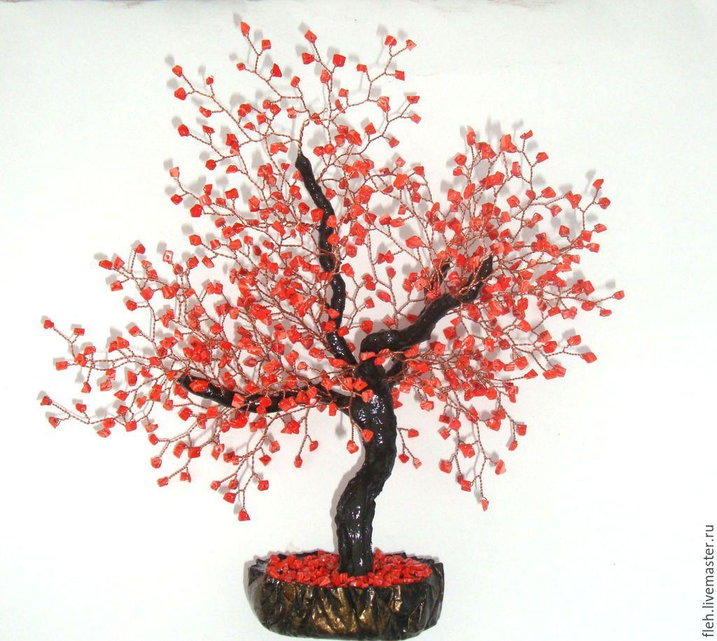 Дерево счастье из камней своими руками