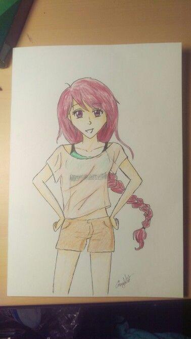 Colored Pencil Anime Girl Art Pinterest Colored Pencils Art