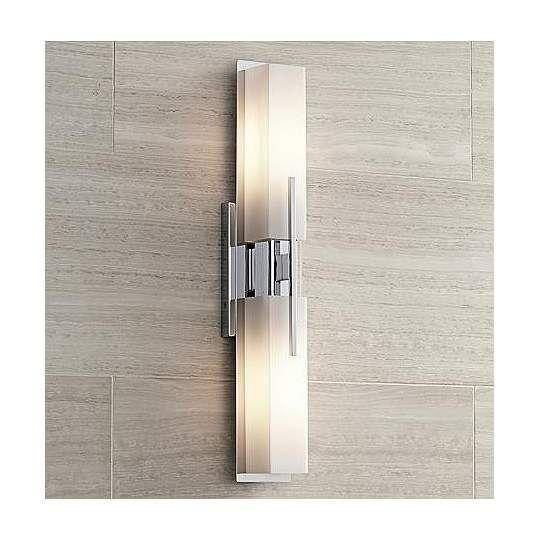 Midtown Chrome 4 1/2-Inch-W Possini Euro Bath Bar Light | 1 ...