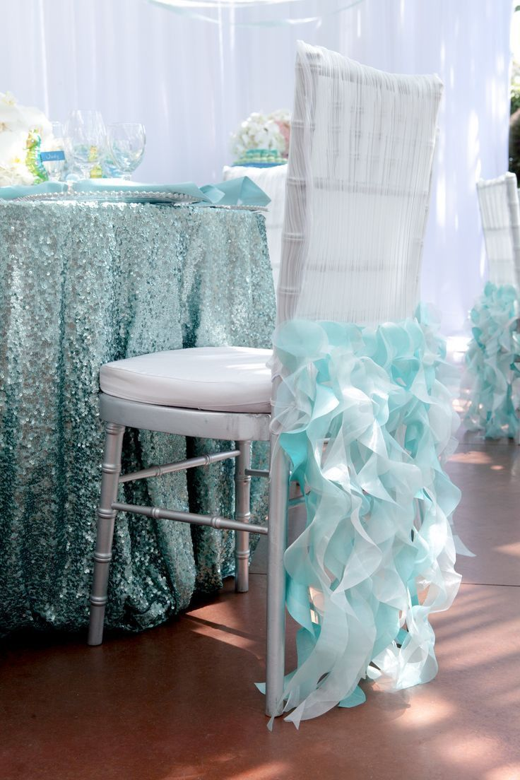 Turquoise Sequin Linens | under the sea baby shower | Pinterest ...