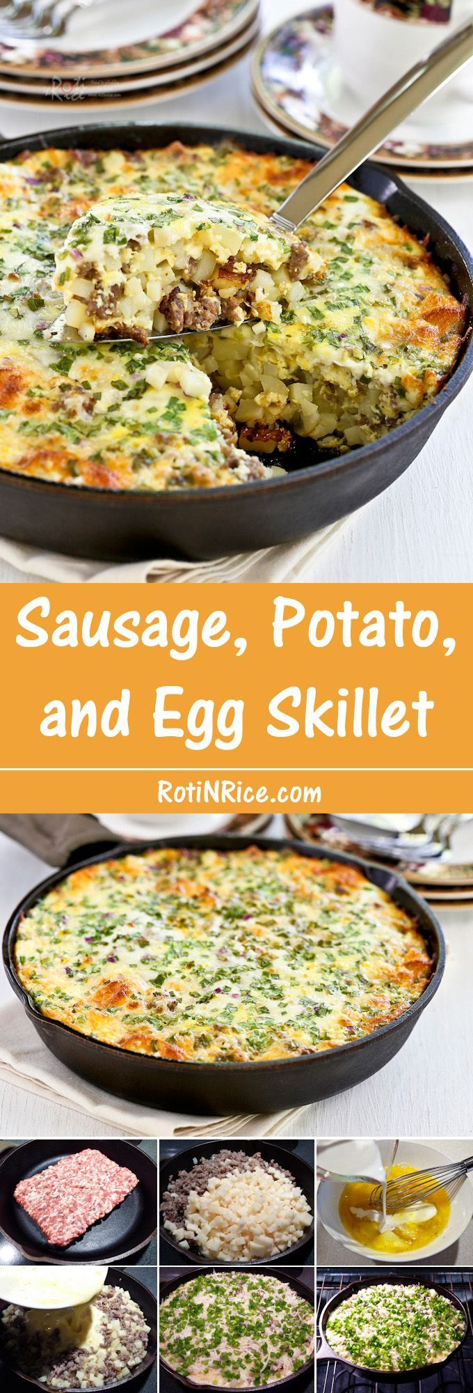 Potato, and Egg Skillet Wake up to this delicious Sausage, Potato, and Egg Skillet topped with shredded cheese and green onions. Makes a wonderful weekend breakfast or brunch treat for the family. | Food to gladden the heart at Wake up to this delicious Sausage, Potato, and Egg Skillet topped with shredded cheese and green onions. Makes a won...