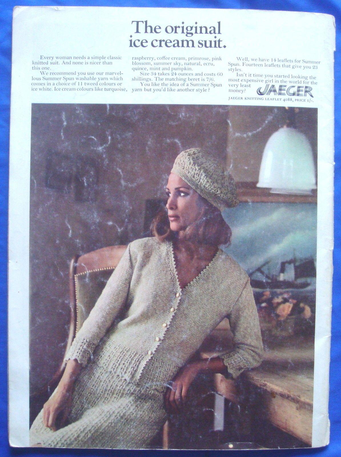vintage VOGUE KNITTING pattern booklet book 1960\'s jumper/cardigan ...