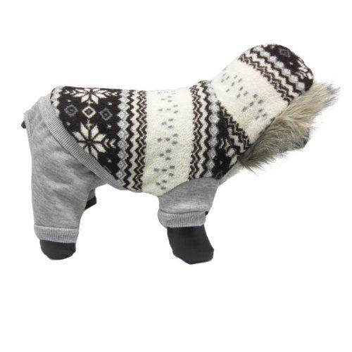 Alfie Pet Apparel by Petoga Couture - Nova Hooded Jumper - Color: Grey, Size: S - http://dribblypoo.com/apparel/alfie-pet-apparel-by-petoga-couture-nova-hooded-jumper-color-grey-size-s