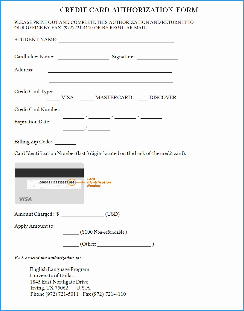 Free Credit Card Authorization Form Template Word Luxury Credit Card For Credit Card Authorization Form Templat Credit Card Images Free Credit Card Credit Card