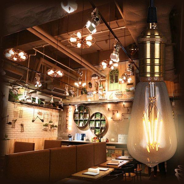 ZX Dimmable ST64 T45 6W COB LED Filament Tubular Vintage Edison