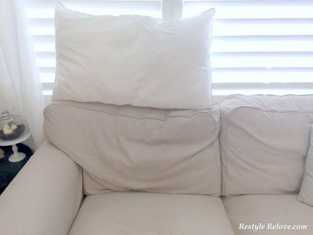 How To Restuff Ikea Ektrop Sofa Back Cushions And An Update On