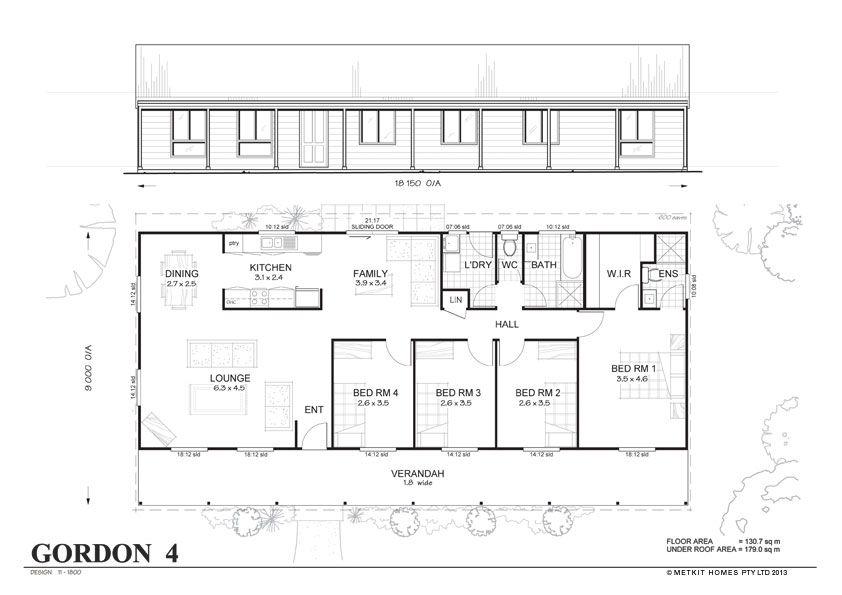 Met Kit Homes Floor Plans Blaxland 3 Affordable Budget