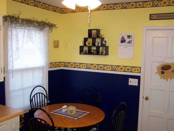 sunflower room decor my sunflower kitchen bright yellow and navy sunflower kitchen needs - Sunflower Kitchen Design Ideas