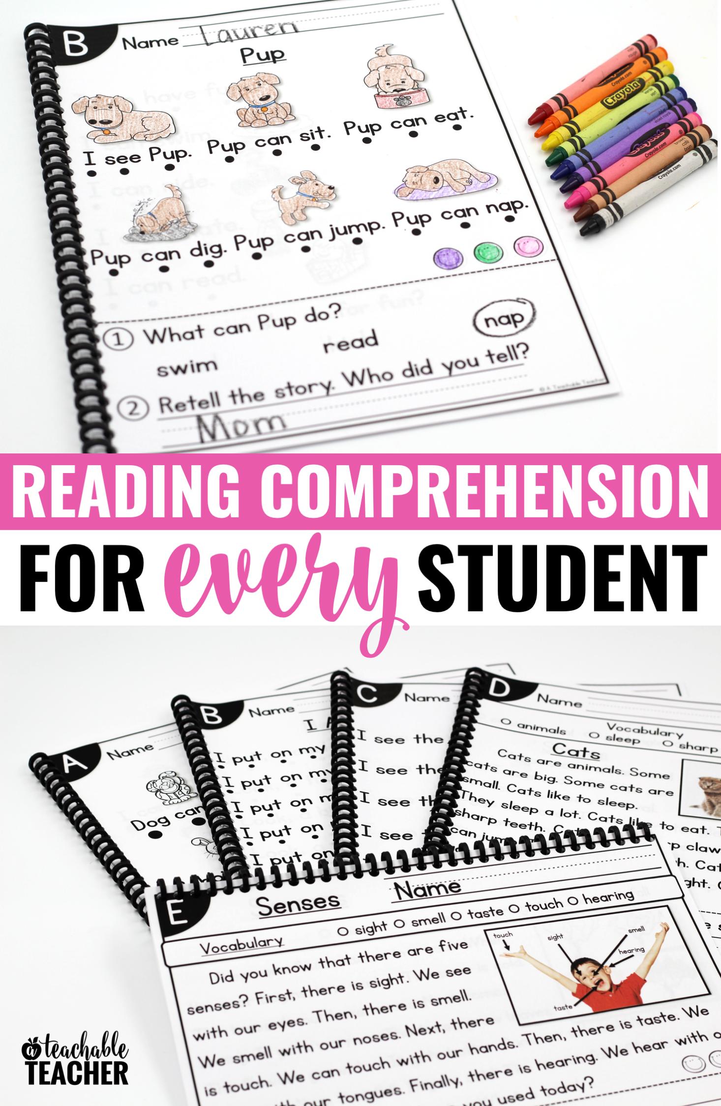 Leveled Reading Comprehension Passages Amp Questions Bundle
