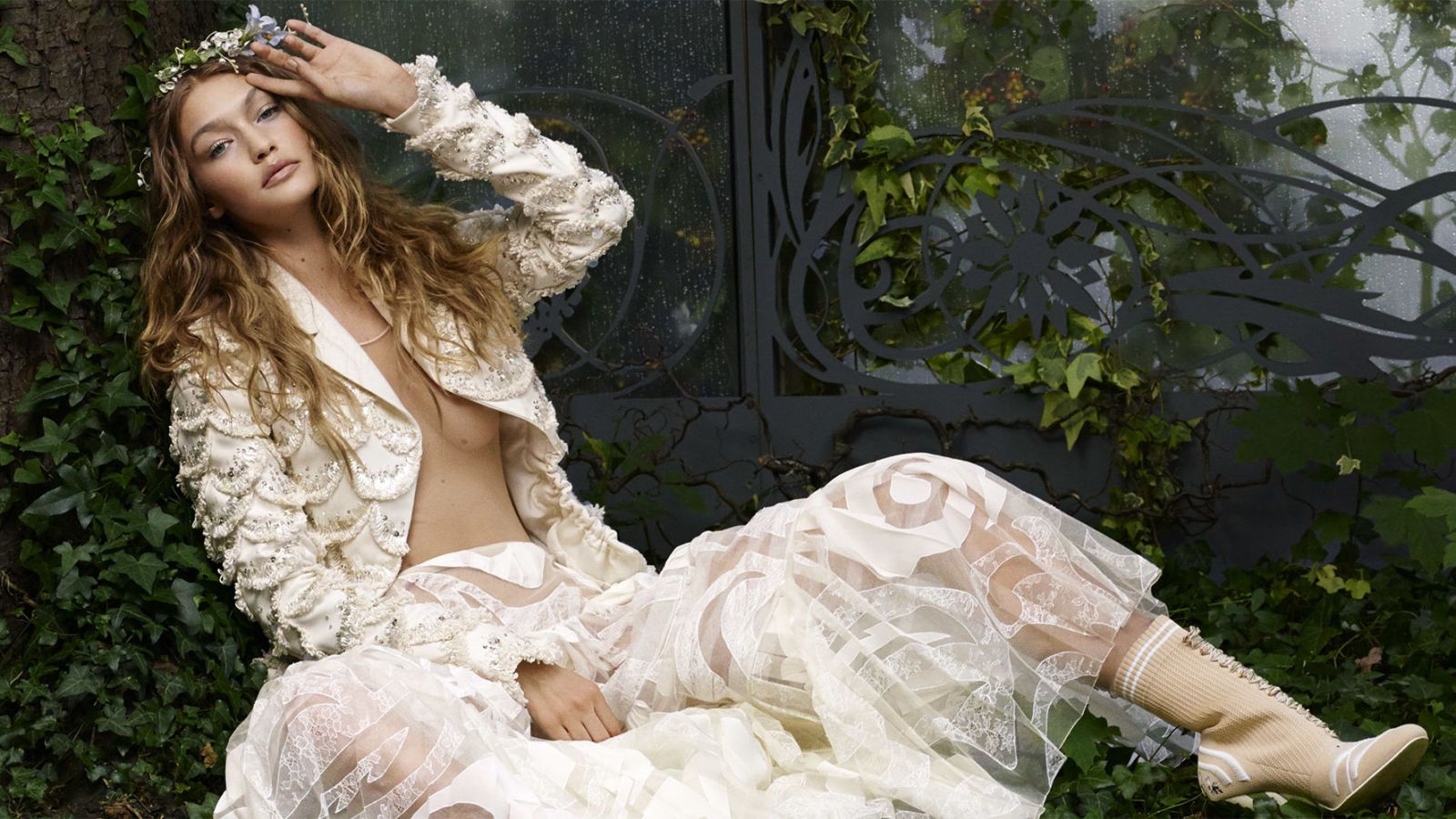Gigi Hadid Wears Spring Couture for Karl Lagerfeld Photo Shoot - Gigi Hadid Cover Story