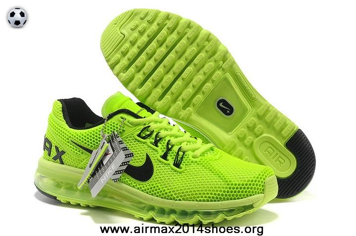 Cheap Green Black Mens Shoes Nike Air Max 2013 LG Hive Sale Now