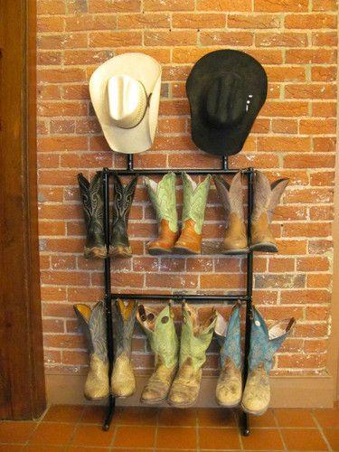 Western Boot Rack Cowboy Boot Rack Boot Organizer Cowboy Hat Holder 2 Tier Cowboy Hat Rack Hat Rack Boot Organization