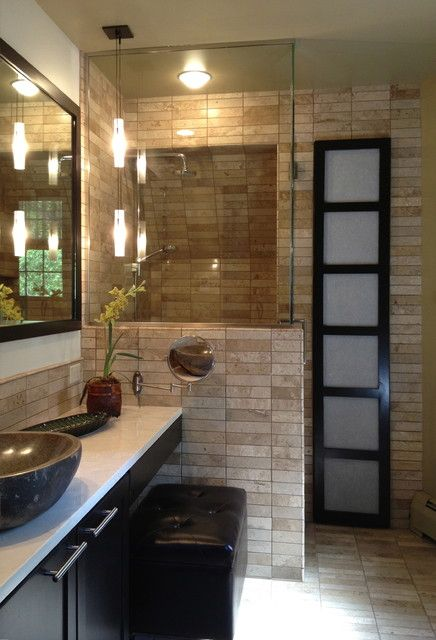 Incroyable The Small, Privacy Wall Is A Great Detail Asian Bathroom By Monarch  Renovations