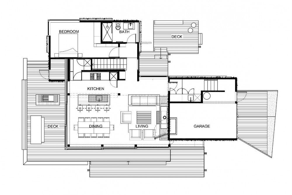 architectural drawings of houses. Under Pohutukawa / Herbst Architects | Minus The Second Bedroom · Beach House PlansHouse Architectural Drawings Of Houses