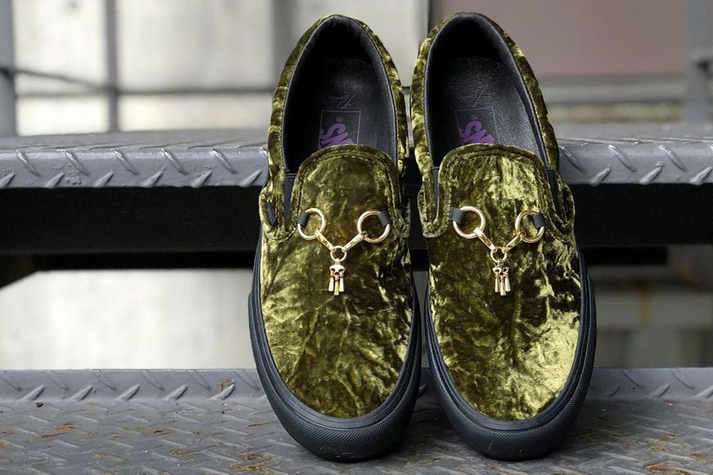81cb4393ce Needles x Vans Slip-On Crushed Velvet Green Velour Loafers Olive Size 8.5  New  fashion  clothing  shoes  accessories  mensshoes  casualshoes (ebay  link)