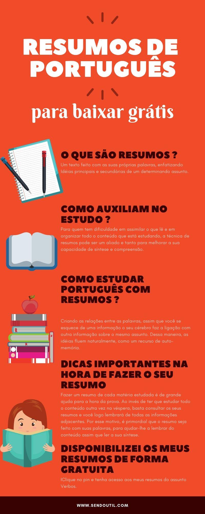 Pin De Clara Em Estudos Estudar Portugues Portugues Para