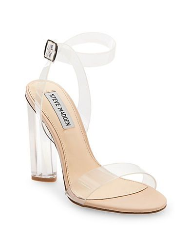 9d3b875fa65 Steve Madden Teena Ankle-Strap Sandals Women s Clear 6.5