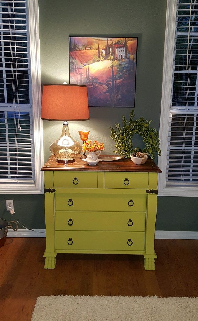 English Yellow Annie Sloan Chalk Paint Empire Chest | Annie sloan ...