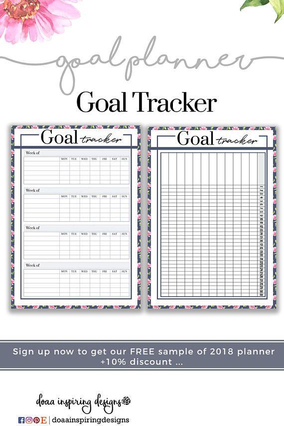 Goal Planner  Goal Setting Planner  Floral Agenda  Undated