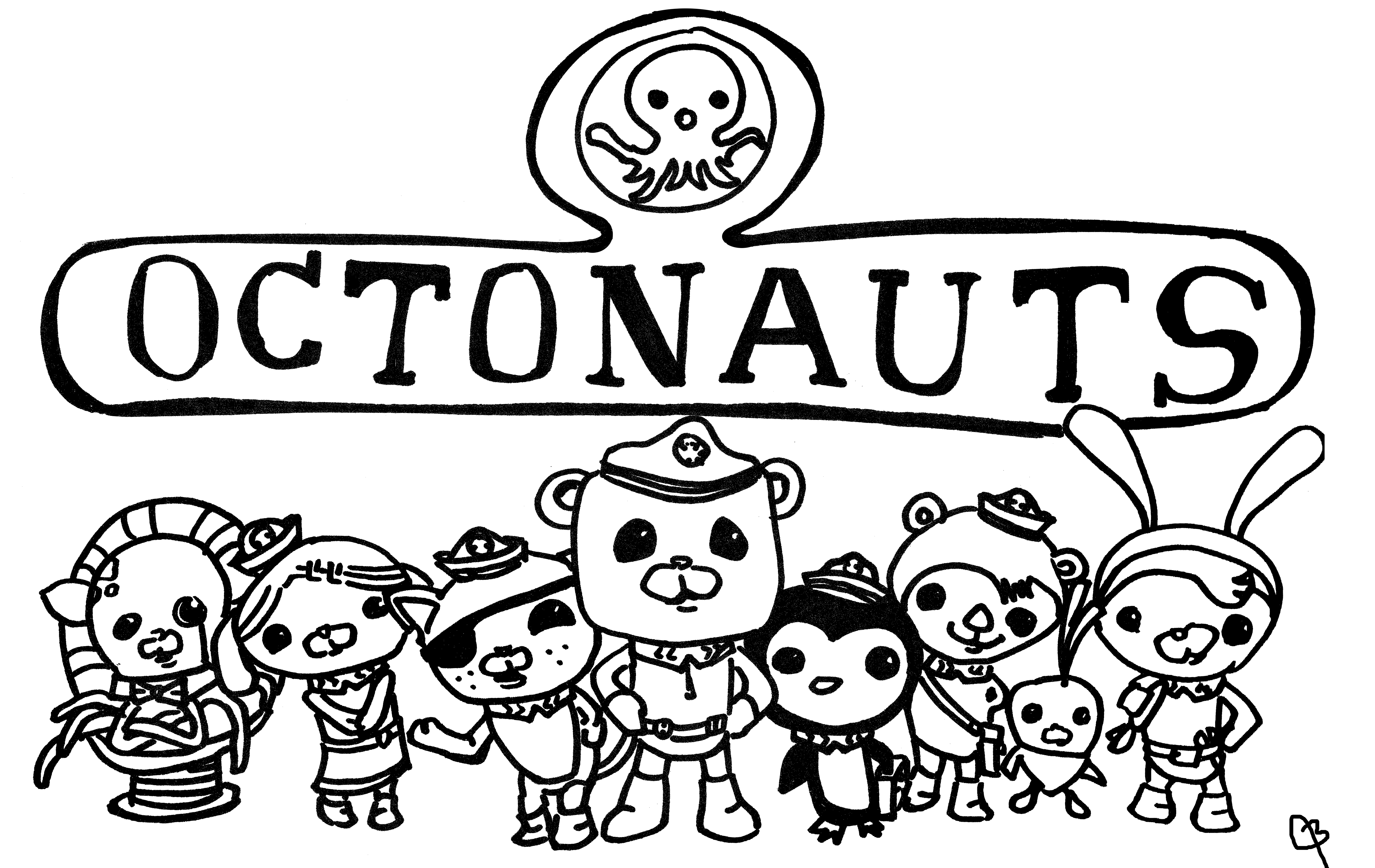 Sharpie Octonauts From Poster My Work Colouring Pages Tv Cartoons Kids Cartoons Cartoon Kids Cartoon Tv Colouring Pages