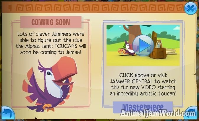 Toucans Coming Soon to Jamaa! animal-jam-toucans-coming-soon  #AnimalJam #News http://www.animaljamworld.com/toucans-coming-soon-jamaa/