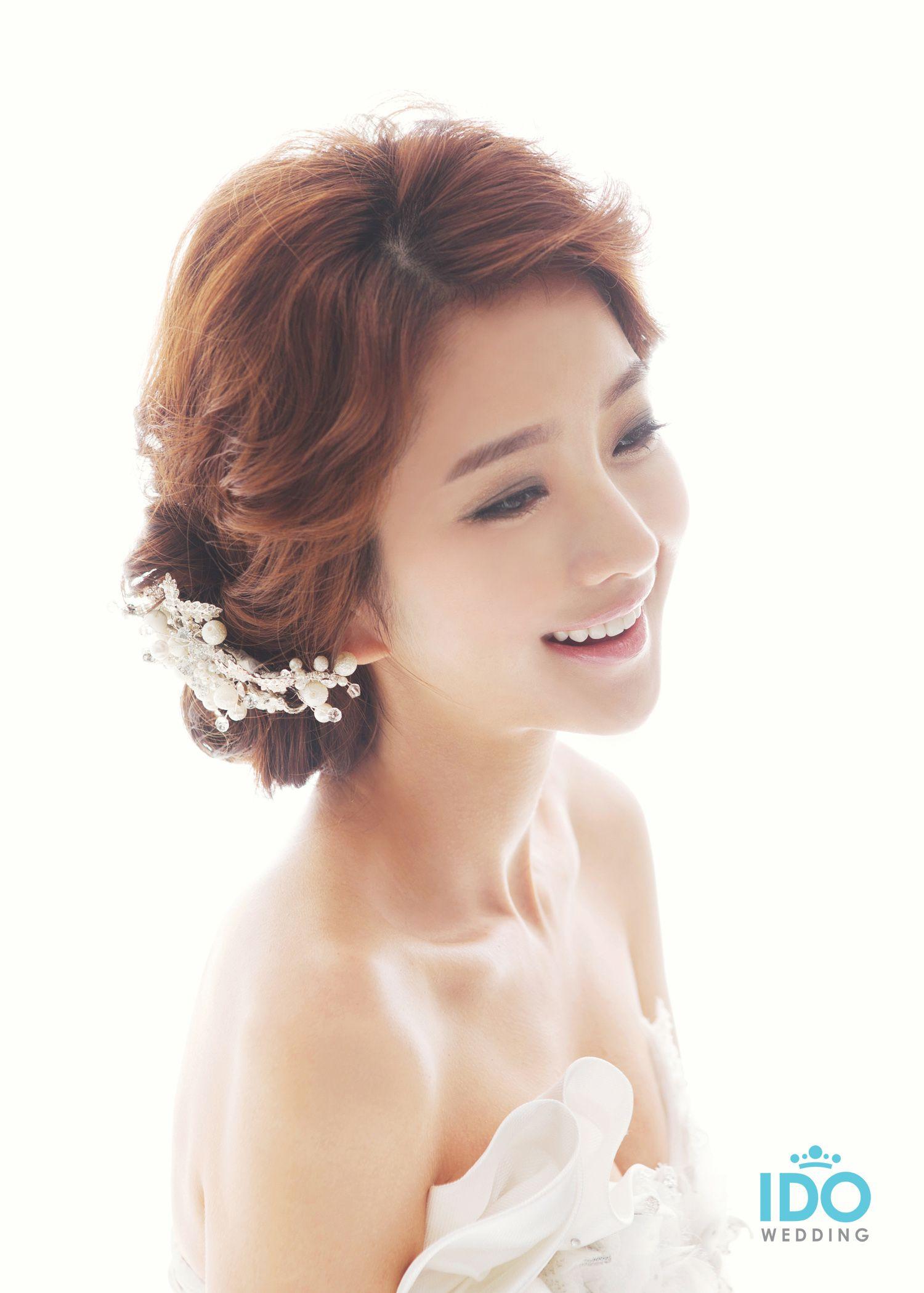 korean wedding photo – hair & makeup style | wedding hair