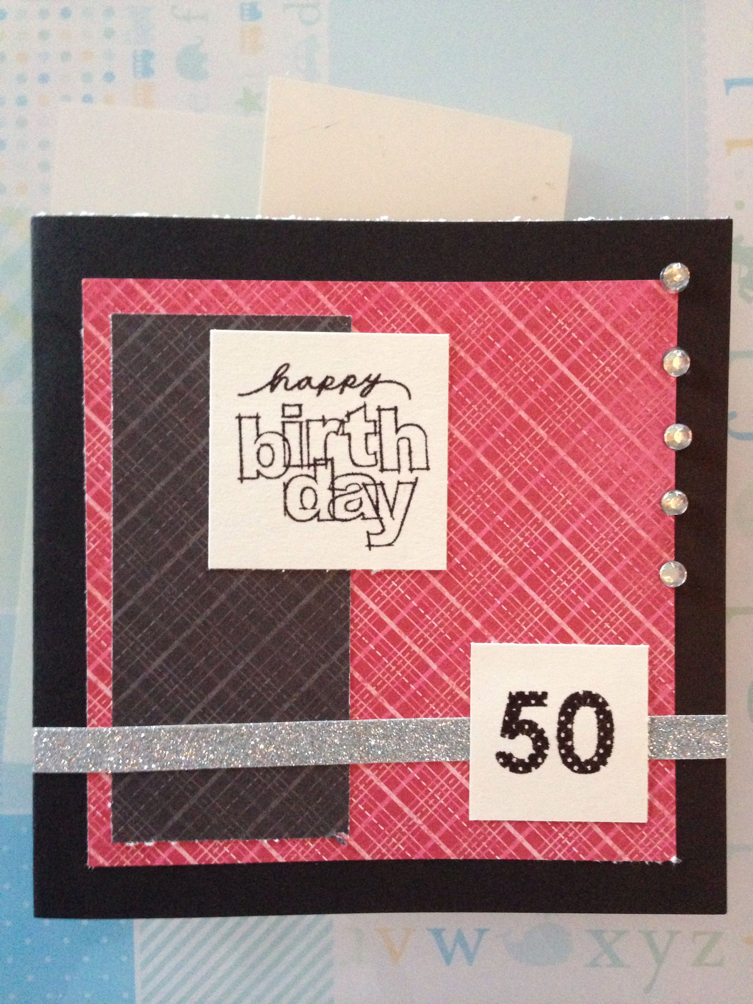 Patterned Birthday card idea