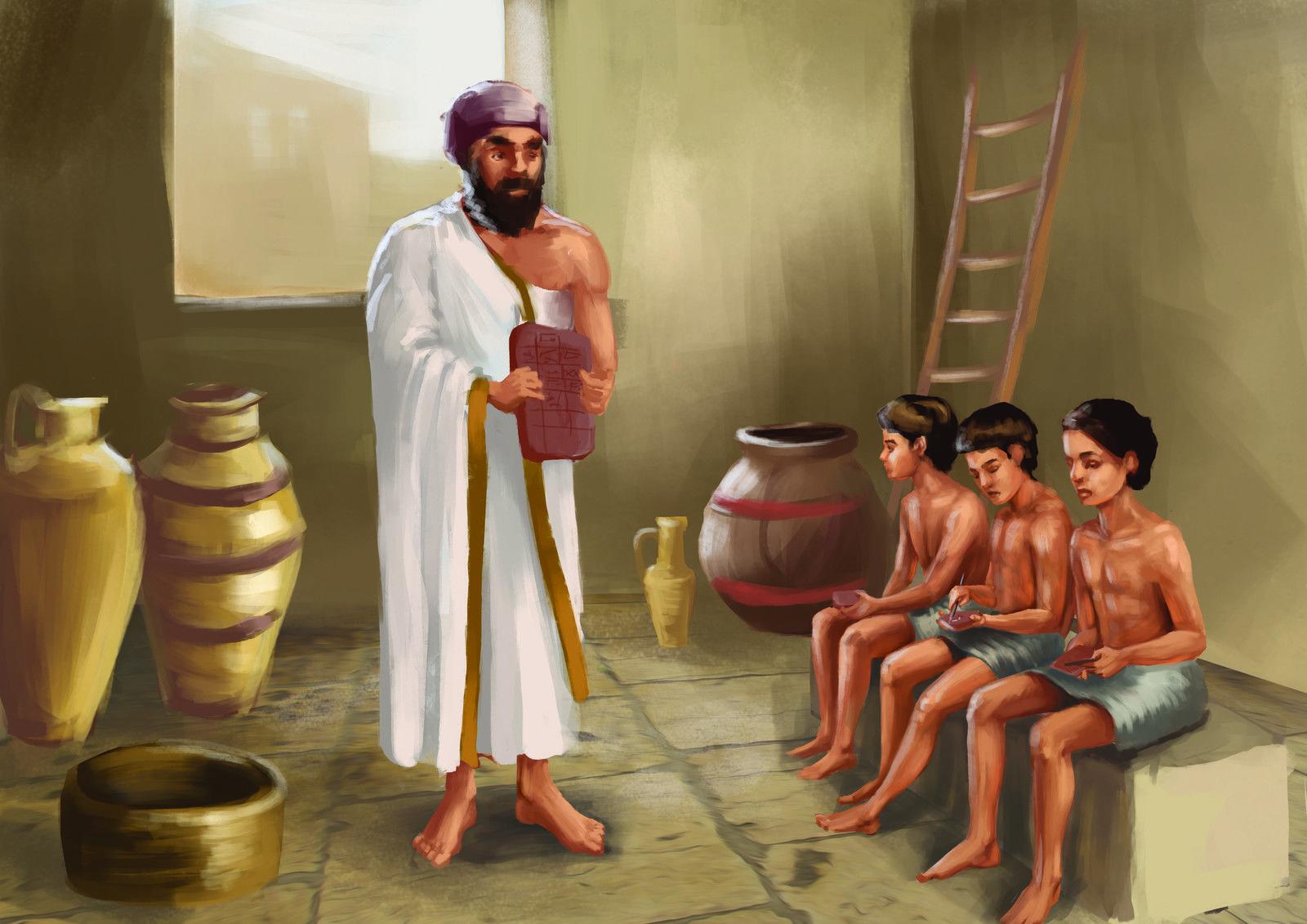 Ancient mesopotamian school by gabriela shelkalina on