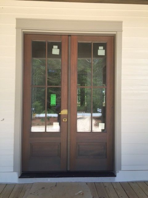 Simpson Fir 7504 4 Lite Over 1 Panel Doors French Doors Patio Exterior Doors French Doors