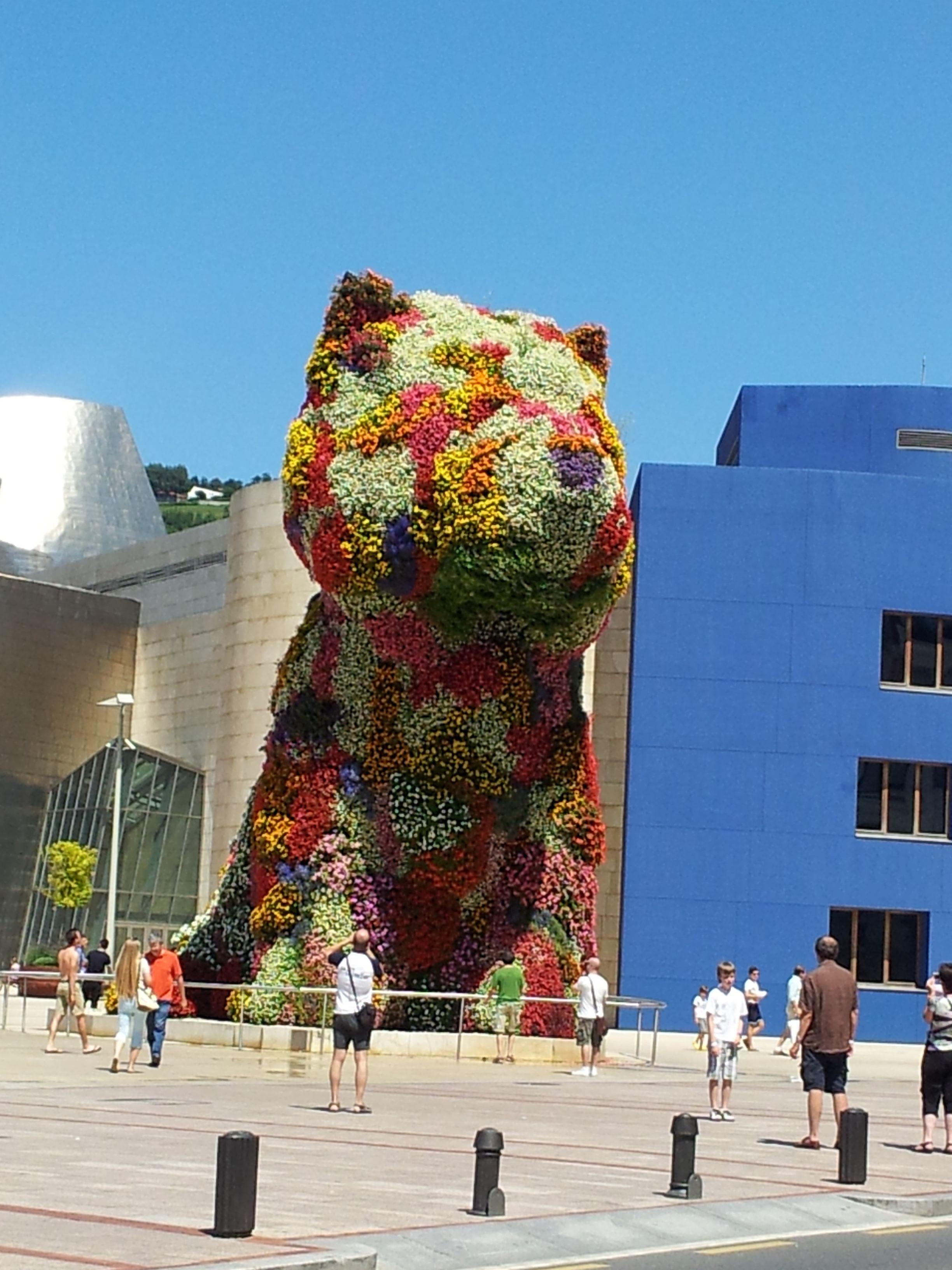 Jeff Koons. Puppy. Museo Guggenhein Bilbao (España