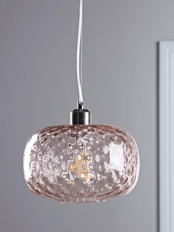 embossed glass pendant blush cox cox a b o d e. Black Bedroom Furniture Sets. Home Design Ideas