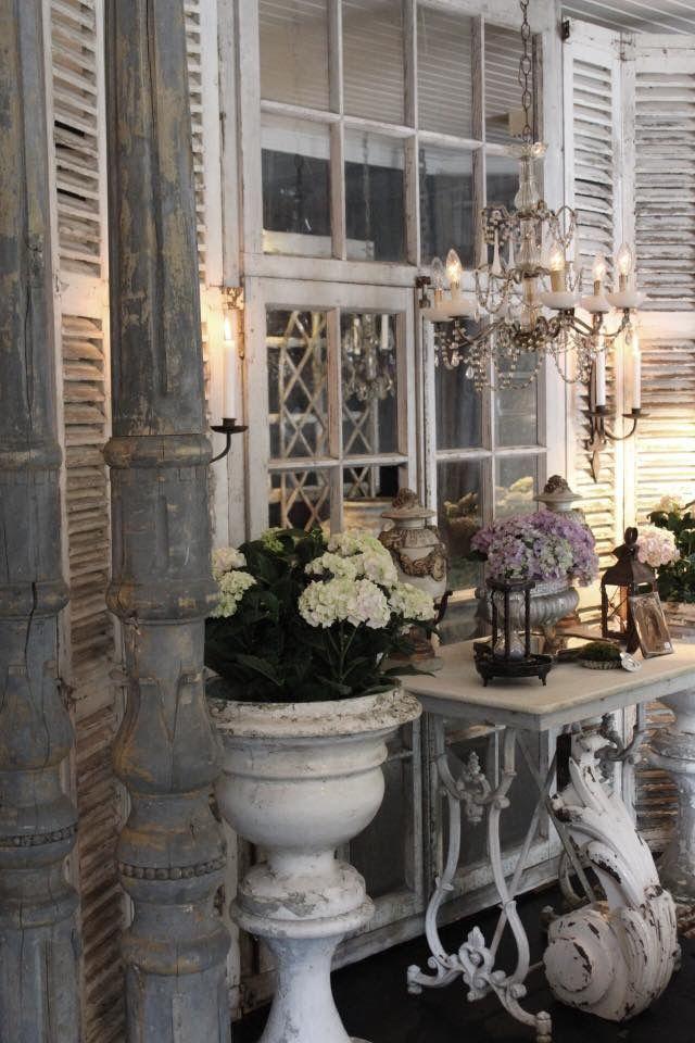 Perfect Vintage Deko, Einrichten Und Wohnen, Französisch Haus, Romantische  Hauptdekor, Romantische Bilder, Industrie Dekoration, Vintage Decor, French  Country Porch ...