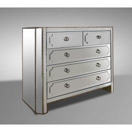 Dawson Contemporary Mirrored Dresser Dresser With Mirror Transitional Mirrors Contemporary Mirror