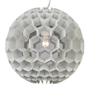 "Genon Globe Pendant White by Moe's Home Collection, $275, now featured on Fab. 15.7"" diameter"