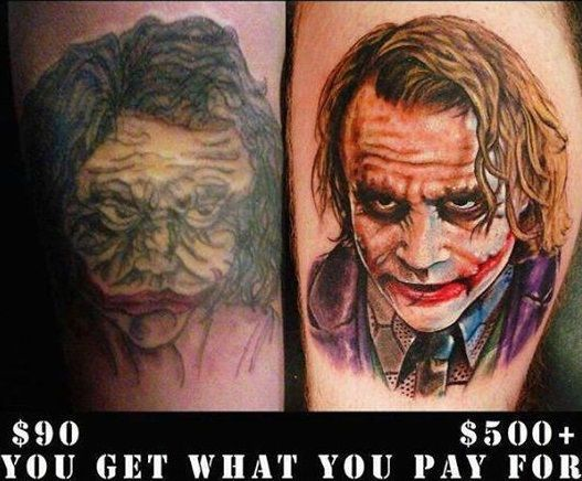 You get what you pay for cheap versus expensive cheap for Most expensive tattoo artist