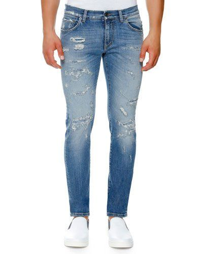 Wide Range Of Cheap Price tapered jeans - Blue Dolce & Gabbana Free Shipping Fashion Style qK0dV84D6