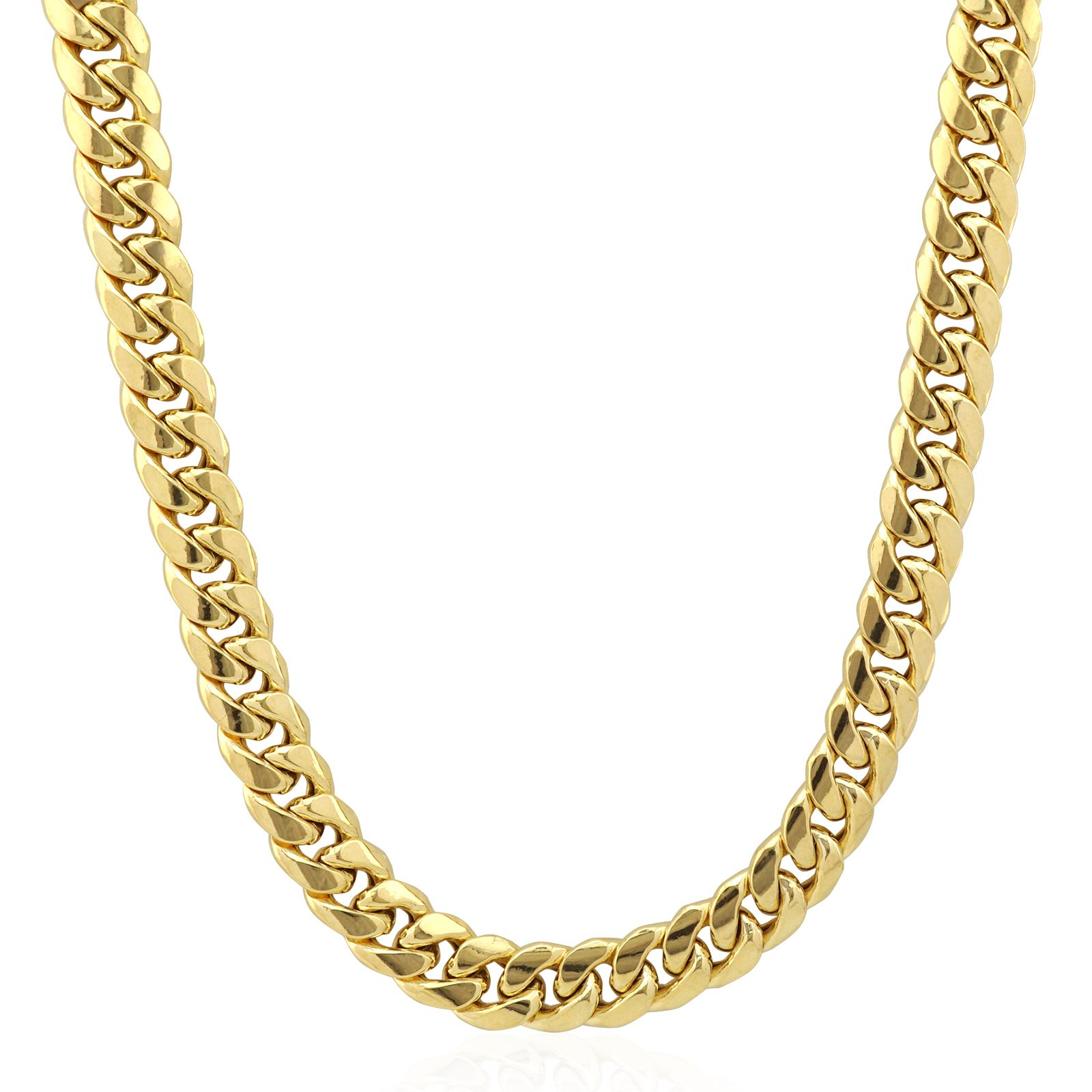 10k Yellow Gold Hollow 11mm Miami Cuban Link Chain Necklace 24 Wjd Exclusives Chain Necklace Cuban Link Chain Miami Cuban Link Chain